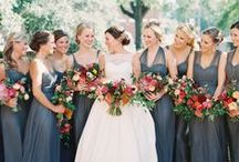 WEDDING PARTY / Inspiration for a perfectly put together bridal party!