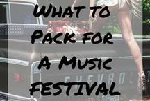 + festival travel tips / Music festival tips, tricks and necessities.