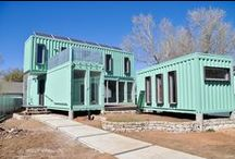 shipping container houses / by Virgie Fisher