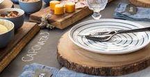 Mesa Posta / A mesa deve encantar pelo sabor e visual, e nela os elementos se complementam em um perfeito e harmônico encontro de cores e texturas, aromas e sentidos.  Inspire-se para compor a mesa!