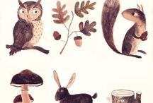 Illustrations / Who doesn't love pretty illustrations? I personally prefer mixed media and watercolor illustrations.