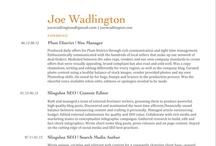 My Living Resume / by Joe Wadlington