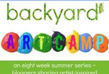 Backyard ART Camp / inspiring art projects for kids...