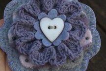 Crocheted Flowers / by Ruth Gooch Reighard
