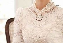 Lace, Sequins, Designers and Details / Vintage and contemporary laces, sequins, designers and details. Fashion, linens and home dec! / by Cathy Gariety