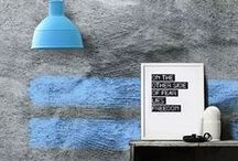 painted walls / trends in painting walls + photo styling