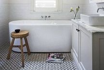 HOME // to bathe / The bathroom is a dirty place where people go to get clean, so you should make it pretty