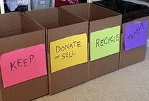 Declutter / You can't organize clutter. Tips for decluttering before you start to organize.
