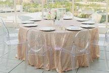 Tablescape / Wedding tablescape ideas: place settings, linens, decor.