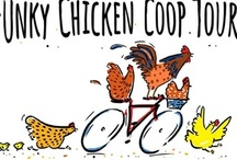 "Bicycle Tour de Funky Chickens / The Fifth Annual Funky Chicken Coop Tour is proud to introduce the addition of a Bicycle Tour de Funky Chickens. Join the legions of Austin's ""Coop Jocks"" in some good, wholesome, chicken voyeurism this spring on March 20, 2013. For more details visit our website: AustinCoopTour.org / by Austin Coop Tour"