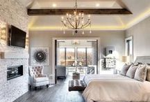 Bedrooms - Get Cozy and Snuggle / Beautiful bedrooms, cozy beds, farmhouse or Fixer Upper style, white and gray bedding, ready to curl up and read a book