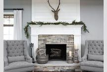 Living Rooms - Stay A While / Dream living rooms! My favorite styles are farmhouse, fixer upper decor with some rustic touches.  Transitional rooms with open floor plans that are also family friendly.