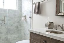 Bathrooms - Wash. Brush. Floss. Flush. / Master bathrooms, guest bathrooms, and kids' bathrooms (oh my!). Mainly farmhouse or Fixer Upper style with rustic touches.  Clean looks