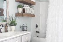 bathroom home decor inspiration and tutorials / plans for updating our bathroom