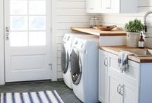 laundry room home decor inspiration and diys / inspiration for the perfect farmhouse or cottage style laundry room