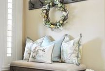 spring farmhouse home decor / add touches of spring to a cottage or farmhouse style home