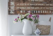 summer home decor inspiration / summer farmhouse and cottage inspiration