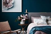 bold and beautiful color palettes / bold home decor
