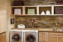 Laundry Room - Wash. Dry. Fold. Repeat. / Dream laundry rooms and decor. Farmhouse or Fixer Upper style with rustic touches.  Family friendly, small or big (who wouldn't want a big laundry room!)