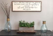 Dining Rooms - Family and Friends Gather Here / Beautiful dining rooms and decor. Farmhouse, fixer upper, or rustic style. Open rooms, formal rooms, and kid friendly rooms
