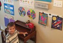 Preschool at Home / Ideas for homeschooling a toddler or homeschooling a preschooler | Play-based learning | Montessori style homeschool | Charlotte Mason homeschool