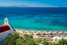 Hotel Beach / Feel the warm sand on your toes, sunbathe and swim at the hotel's beach also known as the Shirley Valentine beach, named after the English movie. Mykonos Grand offers complimentary sunchairs and umbrellas for the exclusive use of our guests.
