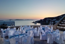 Outdoor Amphitheater / The outdoor stone-built amphitheatre provides a spectacular setting for outdoor presentations, opening ceremonies, concerts and social events, at Mykonos Grand Hotel & Resort