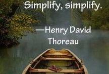 It's the Simple Things / Examples of simple design and ideas for simplifying life