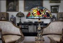 TIFFANY ART GLASS / Table & floor lamps, pendants lights, wall sconces and swing-arm lights, chandeliers, island lighting, billiard lighting, outdoor path lighting, home accent pieces, stained glass panels, & more.  Wisteria, snowball, poppy, peony, dragonfly, lilly, tulip, dogwood, & leaf designs.  For the bedroom, kitchen, living & dining rooms, office, bar & outdoor areas.  Ideal for traditional, contemporary, modern, and rustic homes.  Make a statement with one of these Tiffany stained glass pieces of art!! / by Homeclick.com