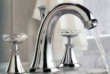 CHROME TONE FAUCETS / Kitchen, bathroom & bar faucets, all in the polished chrome finish.  Traditional, modern, contemporary  and country centerset, single hole, vessel, deck & wall mounted, widespread & bridge faucets.  Pull down. side spray, and soap dispenser options, touch & motion sensor, spiral & high arc or gooseneck, & waterfall choices. Single lever, criss cross, & spoke handles. How to install kitchen & bath faucets, trends in kitchen & bath faucets, how to choose your next faucet and much more.  / by Homeclick.com
