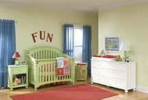 FOR BABY / All for infants and babies!!  Furniture including dressers, night stands, cribs, bassinets, high chairs, changing tables, toy boxes, baskets, hampers, & cradles.  Infant keepsakes including pewter & stainless feeding spoons, cups, piggy/money banks, bowls & music boxes.  Gift sets, waterglobes, albums, mobiles, frames, rugs, strollers & more.  Baby bedding including sheet sets, blankets, bumpers & crib mattresses.  Ideas & inspiration in fashioning the perfect nursery for your baby! / by Homeclick.com