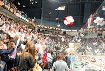 11/30/13 - Teddy Bear Toss - Condors vs. Stockton Thunder / by Bakersfield Condors