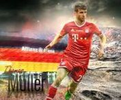 Thomas Müller / Thomas Müller is a German professional footballer who plays for and vice-captains Bayern Munich and the German national team. Wikipedia Born: 13 September 1989 (age 28), Weilheim in Oberbayern, Germany Height: 1.86 m Spouse: Lisa Müller (m. 2009) Salary: 16 million EUR (2016) Current teams: FC Bayern Munich (#25 / Forward), Germany national football team (#13 / Midfielder) Did you know: Thomas Müller ranks eighth among FIFA World Cup goalscorers by goals scored (10). wikipedia.org
