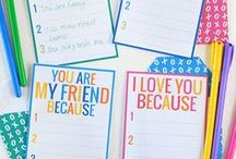 (Taking) Printables and Notes / Silly or serious... they're not just for kids!  Who doesn't appreciate a note that reminds them of how special and loved they are.  Take a minute to print one (or make your own) and send it along with your meal.  Or drop it in the mail.  It may be just what the doctor ordered.  =)