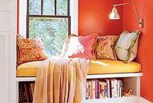 Home: reading nooks and bookshelves