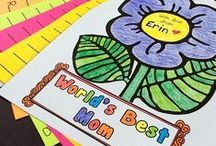Mother's Day & Father's Day / Celebrate family in your classroom with these fun ideas for recognizing Mother's Day and Father's Day! I've collected a pile of art projects, handmade gift and card ideas, and suggestions for activities to do together with Mom and Dad. Check out more at MrsBeattiesClassroom.com