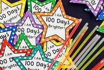 100th Day of School / 100 days of school is a huge reason to celebrate if you're a kid and the possibilities for math and writing activities are nearly endless! Take a look at these ideas and activities for a fun classroom celebration: shirt decorating, special snacks, projects and collections, games and dressing up, even a fun app that will age your image! Check out more at MrsBeattiesClassroom.com