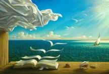 "Vladimir Kush / Vladimir Kush is a contemporary painter of Russian origin, who found an unlimited source of stylistic inspiration within the realm of historic surrealism. The style of Vladimir Kush is a unique addition to the contemporary art scene. Even though his expression is generally described as surrealistic, he prefers to label it as ""metaphorical realism"", shying away from the historical connotations the name of surrealism might carry."