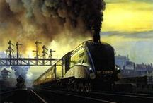 Steam trains / artworks | steam train | railway | railroad | locomotive | steam engine | train station