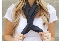 Scarf Tying / Fun ways to tie your scarves!