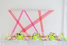 neon + white party / by natalie xanthakis