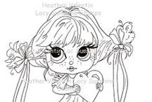 Digi & Rubber Stamping Images / I just discovered digi stamps and I love it! / by Sylvia Castaneda