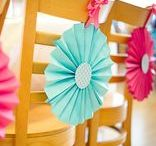 Party Chair Decorations / Of course you have to decorate your party chairs?! Doesn't everybody? ;-) party chair | party chair decoration | party chair decor | party chair decoration DIY | party chair covers | birthday party | children's birthday party | children's birthday party planning