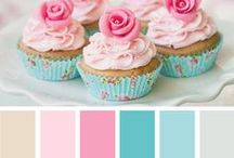 Party Color Palettes / Color palette ideas for birthday parties, bridal and baby showers. | color palettes | party color palettes | color palette ideas