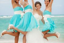 Wedding Party with Tiffany Blue Accents