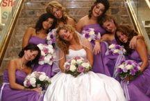 Wedding Party With Purple - Lavender - Lilac Accents