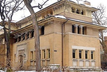 Architect: Frank Lloyd Wright / Well known architect based in Chicago known for Prairie style. / by Donna Dixon