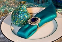 Wedding Party with Aqua & Turquoise Accents