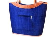Raffia Handbags / Handmade in Madagascar - wonderfully made handbags with zip fastenings. Perfect for the summer but quite happy to be used all year round.