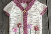 крючком, детские жакеты/кардиганы/кофточки / crochet-child,kinder